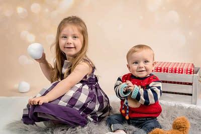 Brother and Sister Christmas Photography Heywood