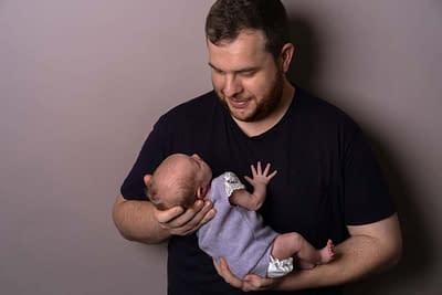 Baby Dad Newborn Portrait Photography Heywood